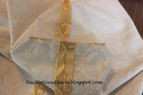 Bottom corners sewed
