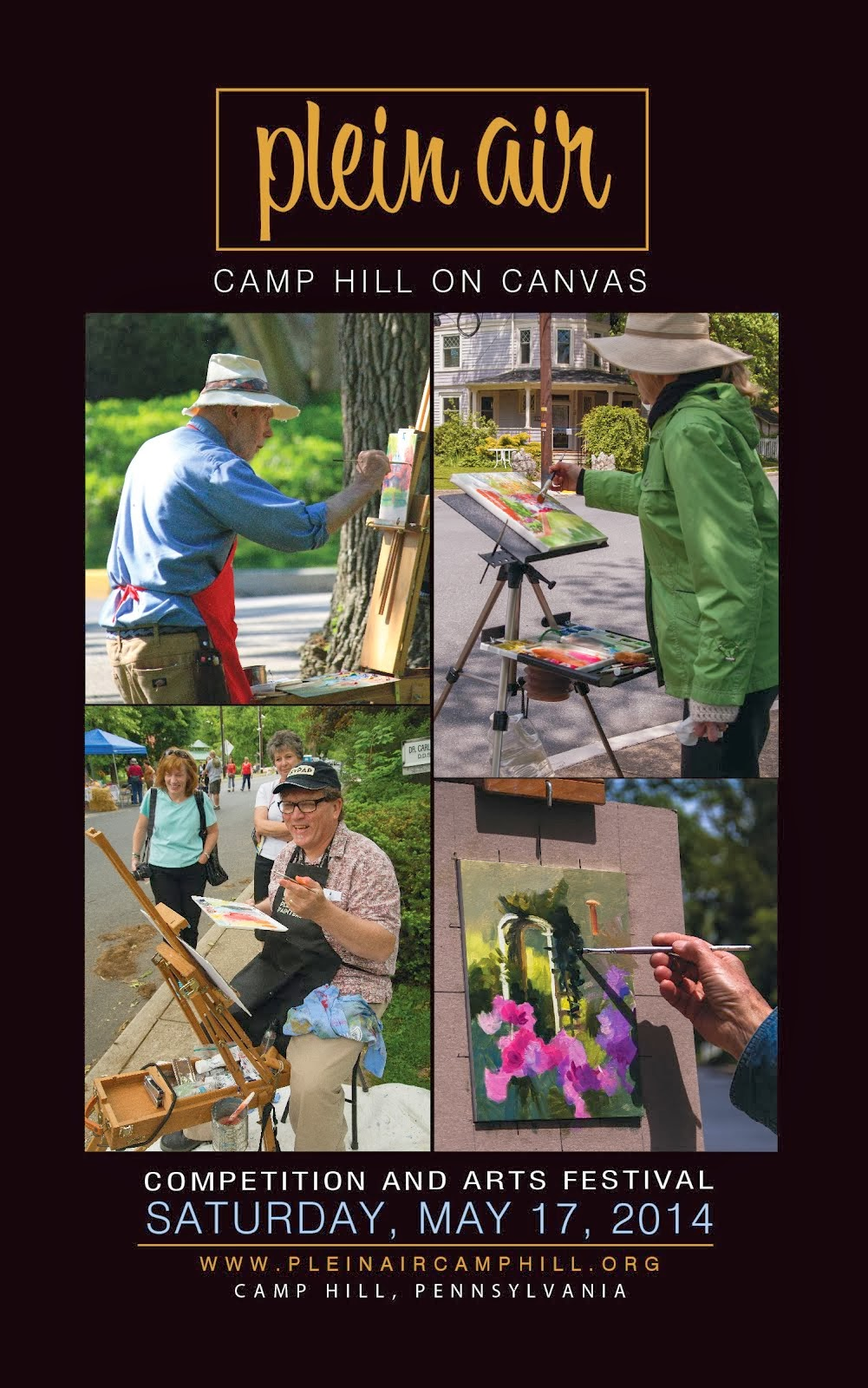 Plein Air - Camp Hill On Canvas