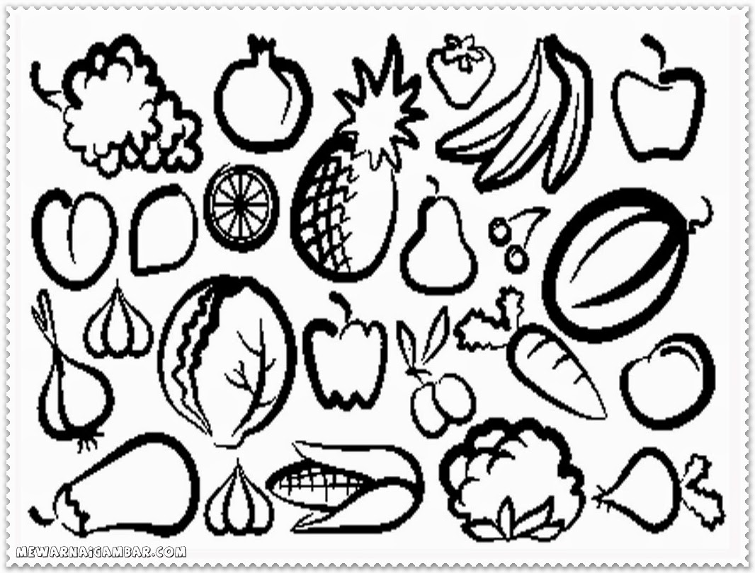 salad coloring pages - photo#32