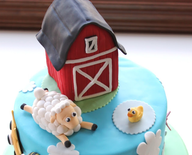 Fondant Barn Cake Topper