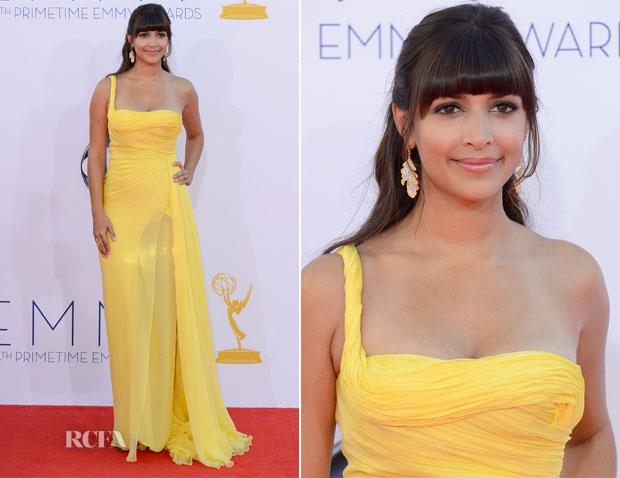 Hannah Simone vestido de Emilio Pucci Emmy 2012