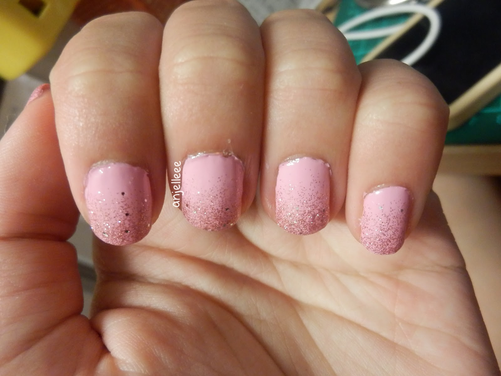 Just another beauty blogger pink gradient glitter tips a while back i painted my nail tips a gradient glitter after seeing so many people doing this they looked so pretty so i decided to try it out myself solutioingenieria Choice Image