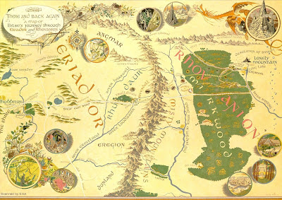 Hobbiten Tolkien Karta