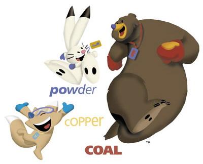 Powder, Copper and Coal mascot 2002 Winter Olympics Salt Lake City, Utah, United States
