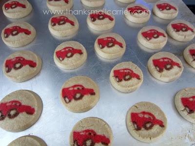 Lightning McQueen cookies