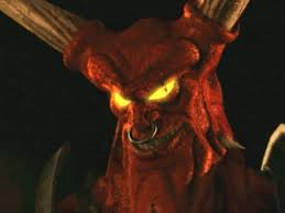 a face shot of Horny, the Horned Reaper