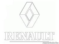 Kids Coloring Renault Logo