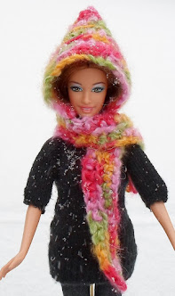 barbie hooded scarf -free crochet pattern