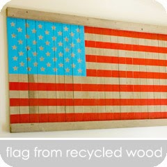 hillmade.blogspot.com | American flag made using recycled wood