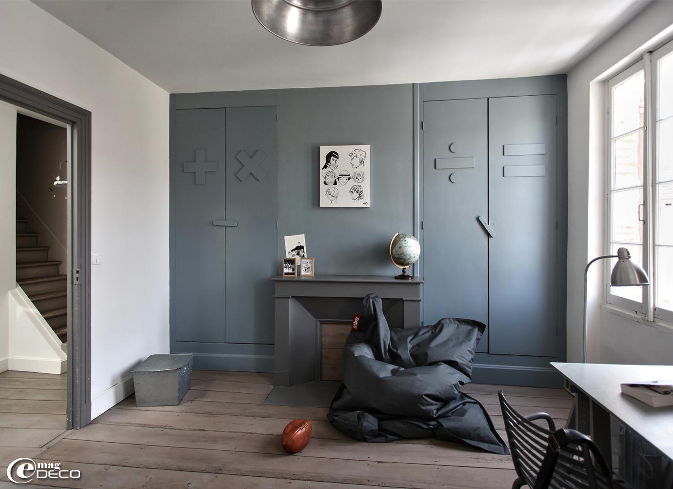 Chambre de garçon couleur gris Dauphin chez Flamant