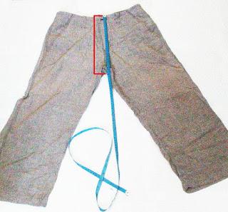 cara mengukur rise celana panjang
