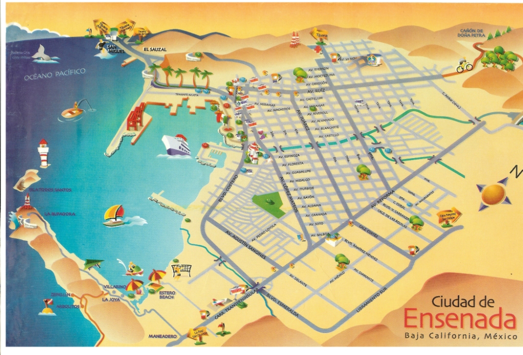 Ensenada Mexico City Map - Mexico and usa map