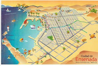 Map of Ensenada City Area
