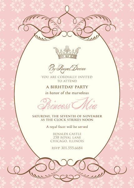 By Royal Decree Birthday Invitation