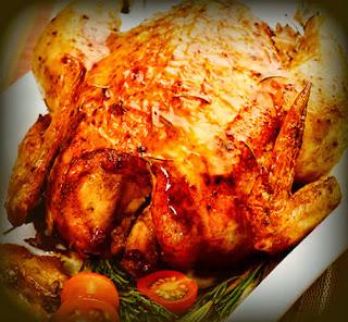 Pollo asado a las finas hierbas