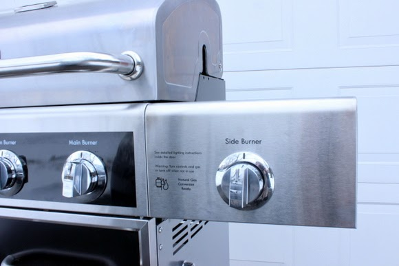 Sideburner on a Kenmore grill