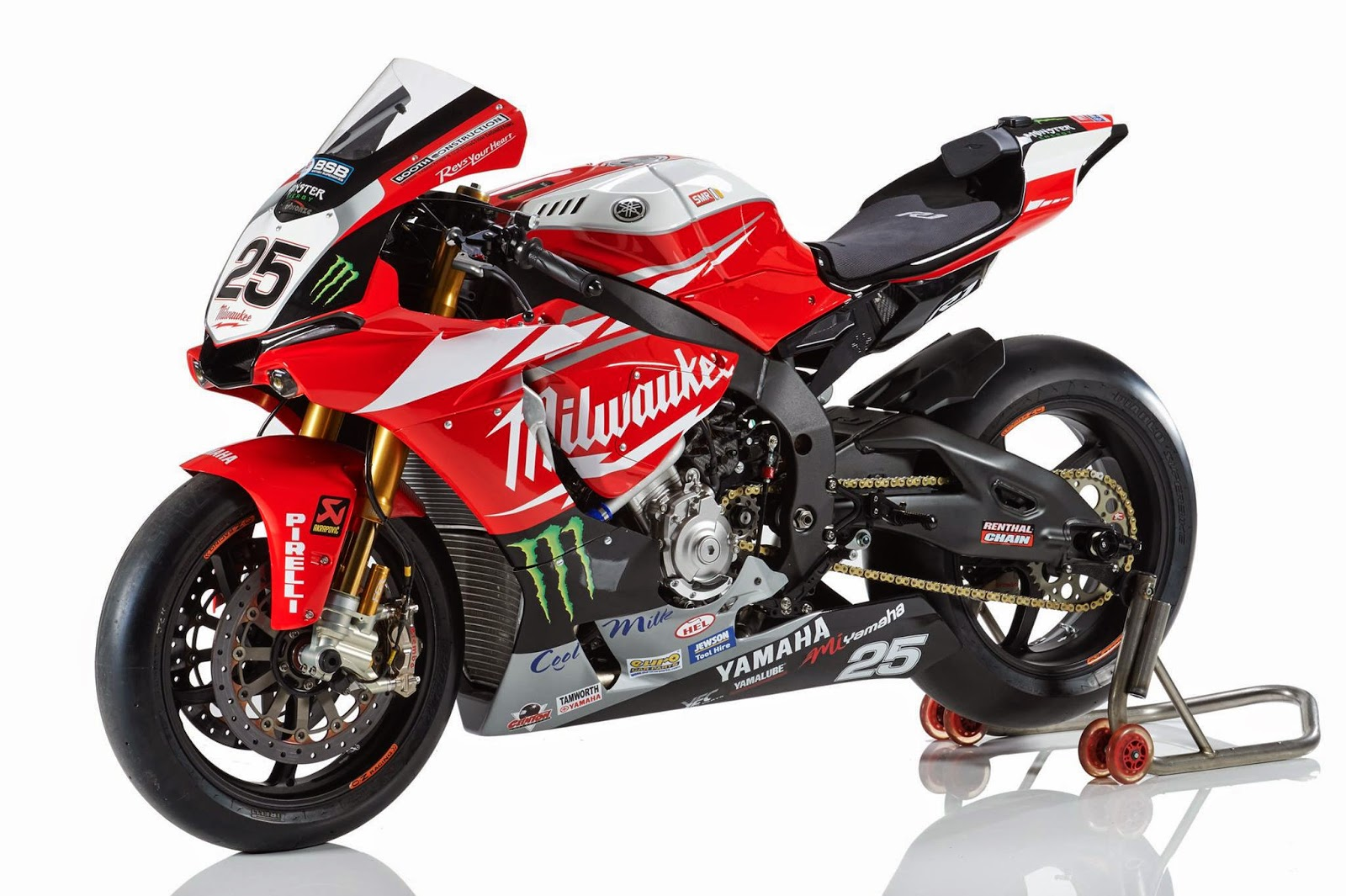 racing caf yamaha yzf r1 bsb team milwaukee yamaha 2015