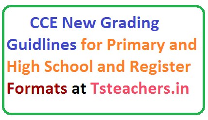 CCE New Grading System Formating Assesment FA Summative Assesment SA Guidlines and Formats for Primary Schools and High Schools in Telangana SSA