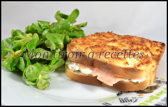 croque-Monsieur saumon fumé
