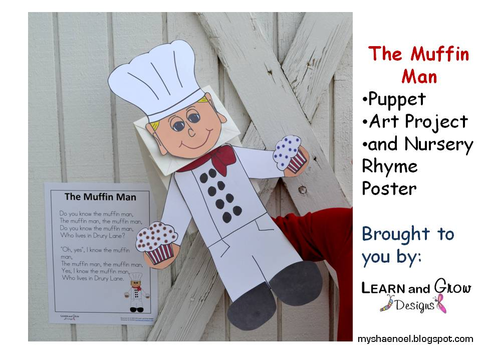 The In Man Nursery Rhyme Puppet Book And Activities For Kids
