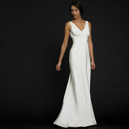 Plain Elegant White Wedding Dress Designs