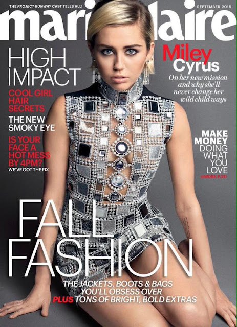 Actress, Singer @ Miley Cyrus by Mark Seliger for  Marie Claire US, September 2015