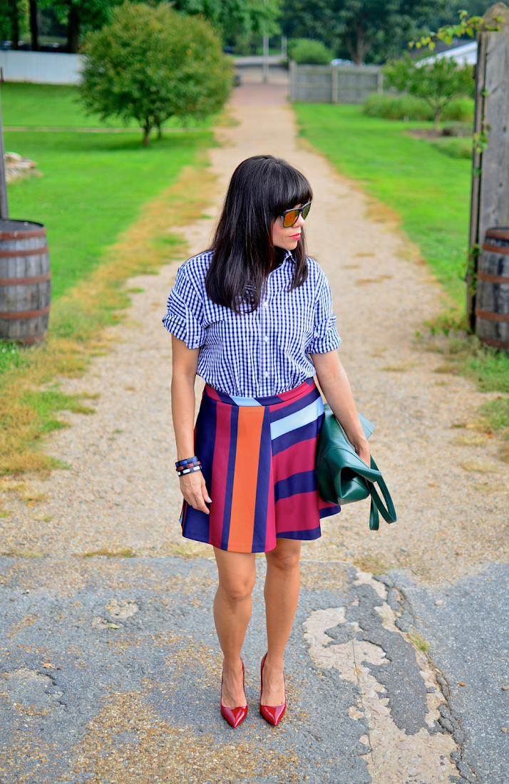Circle Skirt Outfit Look