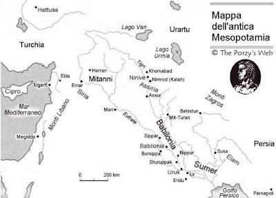 mappa mesopotamia