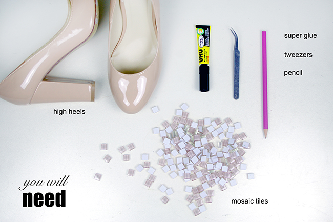 Revamp your high heels with mosaic tiles. {via www.fashionrolla.com}