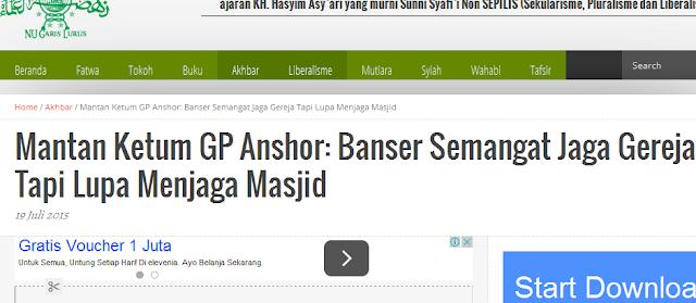 Klarifikasi Mantan Ketum GP Anshor Setelah Difitnah Memojokkan Banser Oleh Media Wahabi