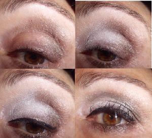 Maquillaje de ojos plateado paso a paso