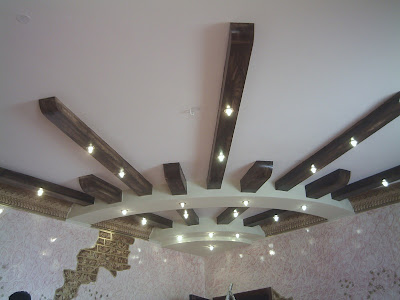 Picture gypsum board roof - gypsum board decorations