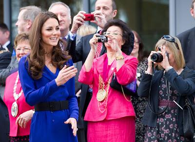 Kate Middleton wearing a royal blue coat dress- 24 Pics
