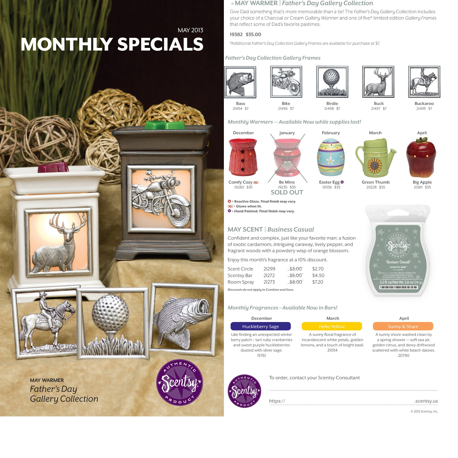 Wickless Your Way: May 2013 Scentsy Warmer of the Month