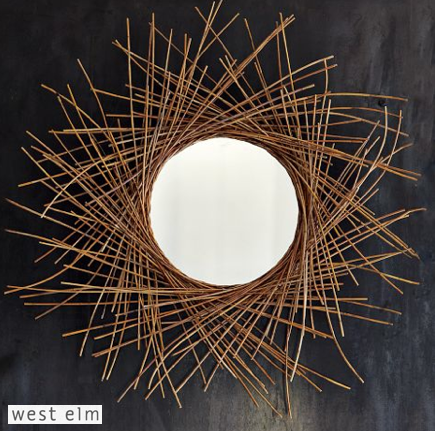 twig starburst mirror via West Elm