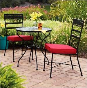 Wrought Iron Patio Furniture Bistro Set