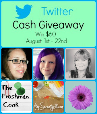 Twitter $60 Cash Giveaway