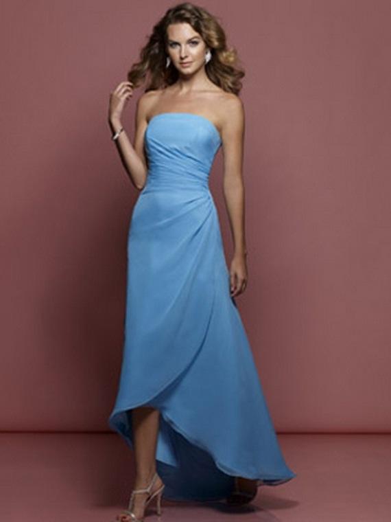 Eleagnt Blue Bridesmaid Dresses