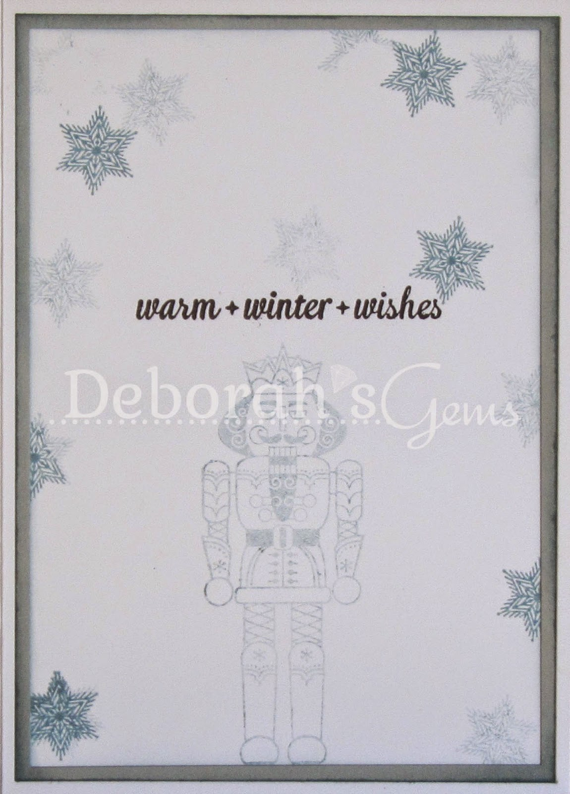 Seaon's Greetings inside - photo by Deborah Frings - Deborah's Gems