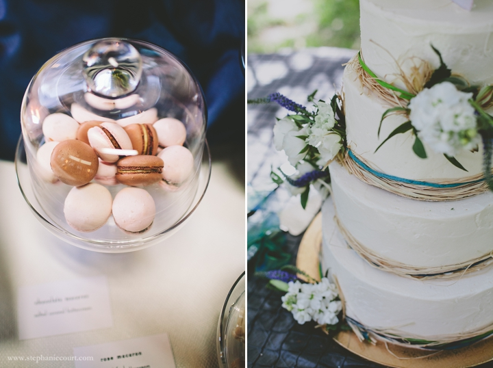 """macarons and wedding cake"""