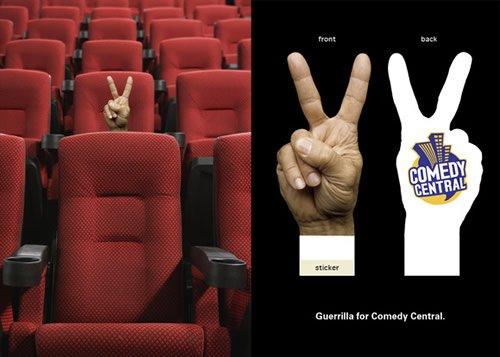 Comedy Central - Iklan stiker kreatif
