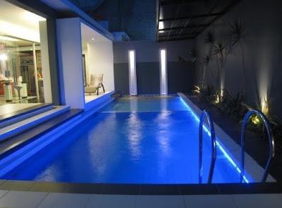 ukuran ideal kolam renang minimalis