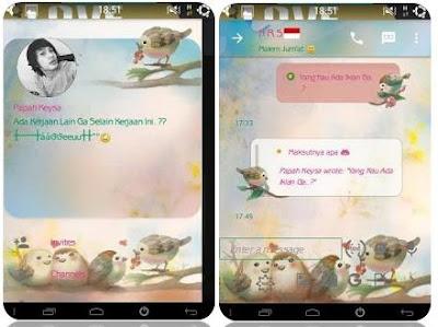 BBM Tema Love Bird Versi 2.10.0.35 apk