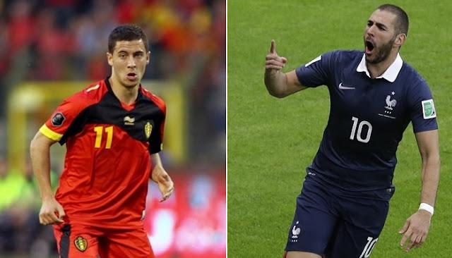 Francia vs Belgica en vivo