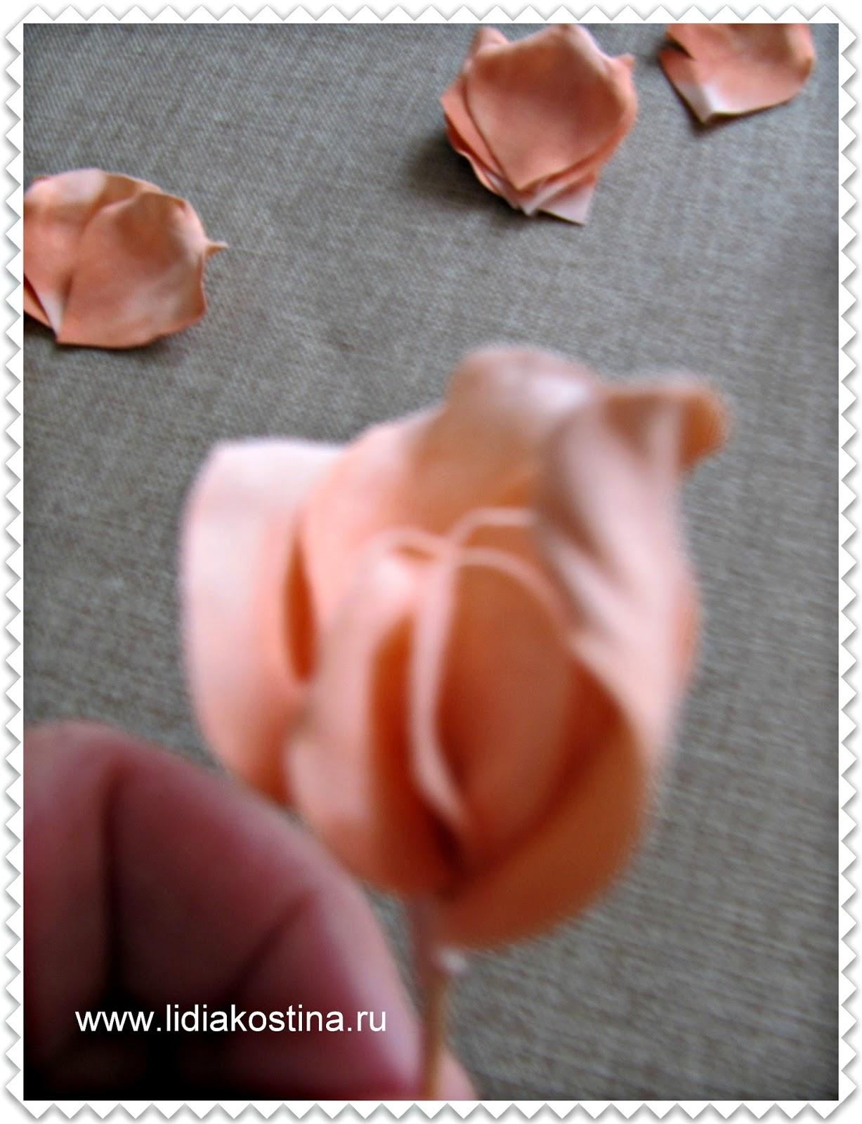 Цветок роза из фоамирана мастер класс с пошаговым фото