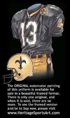 New Orleans Saints 1991 uniform