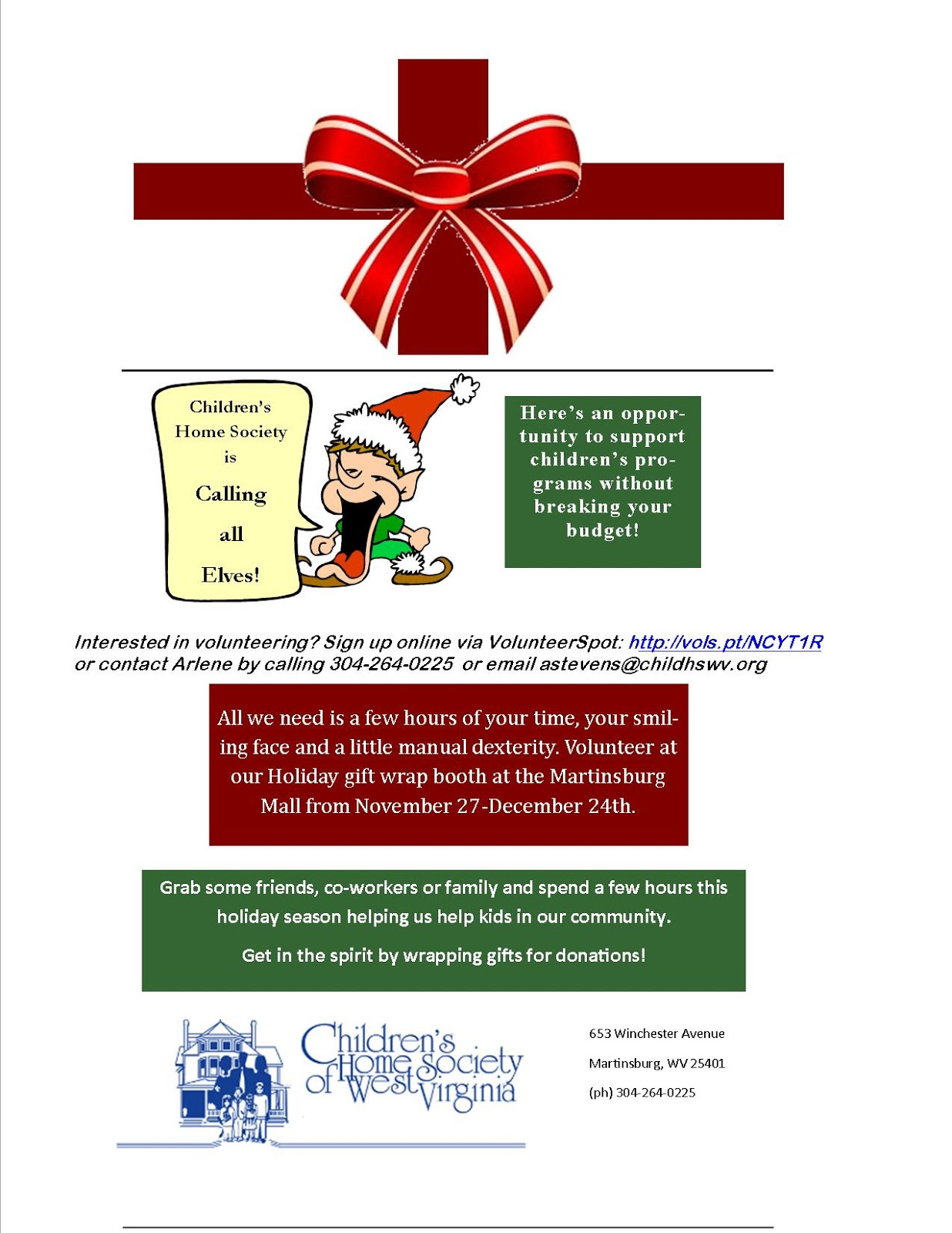 Wv colored childrens home - 2015 Wrapping Booth Fundraiser