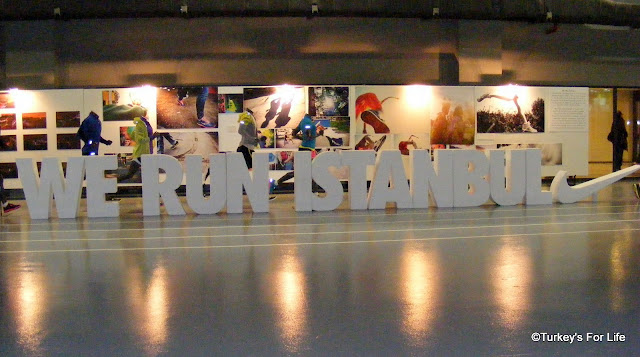 Nike Sponsor Display At The Istanbul Marathon Exhibition Centre