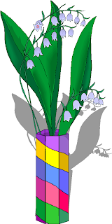 Flowers Green Leaves in The Vase Free Clipart