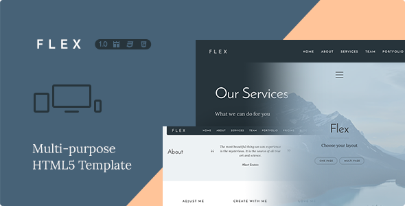 Responsive Multipurpose HTML5 Template